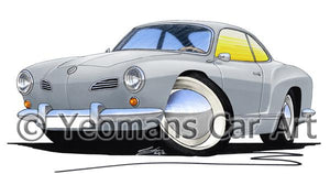 VW Karmann Ghia - Caricature Car Art Coffee Mug
