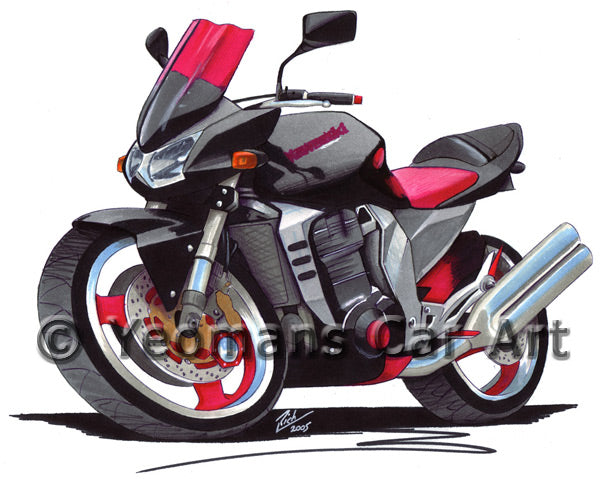 Kawasaki Z1000 - Caricature Bike Art Coffee Mug