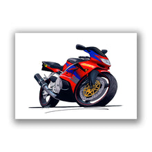 Load image into Gallery viewer, Kawasaki ZX6R - Caricature Bike Art Print