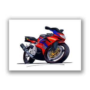Kawasaki ZX6R - Caricature Bike Art Print