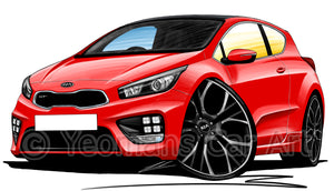Kia Pro_Ceed GT - Caricature Car Art Print