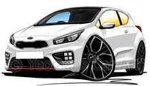 Load image into Gallery viewer, Kia Pro_Ceed GT - Caricature Car Art Print
