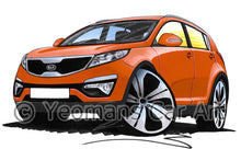 Load image into Gallery viewer, Kia Sportage - Caricature Car Art Print