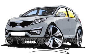 Kia Sportage - Caricature Car Art Coffee Mug