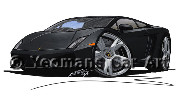 Lamborghini Gallardo LP560/4 - Caricature Car Art Print
