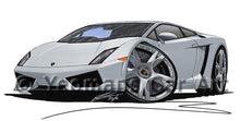 Load image into Gallery viewer, Lamborghini Gallardo LP560/4 - Caricature Car Art Print