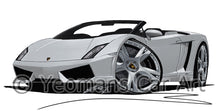 Load image into Gallery viewer, Lamborghini Gallardo LP560/4 Spyder - Caricature Car Art Print