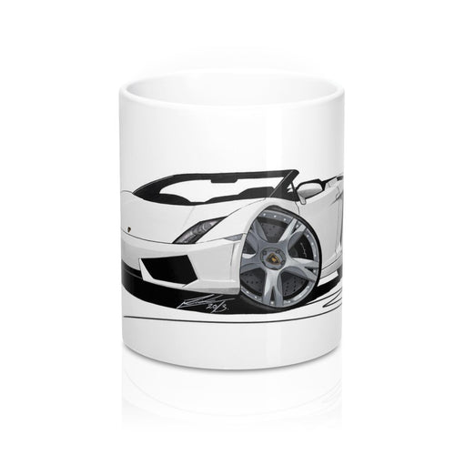 Lamborghini Gallardo LP560/4 Spyder - Caricature Car Art Coffee Mug