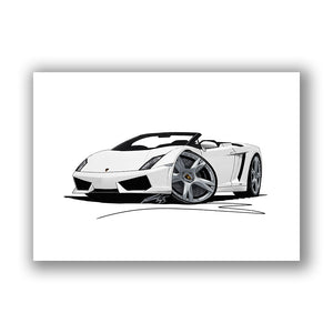 Lamborghini Gallardo LP560/4 Spyder - Caricature Car Art Print