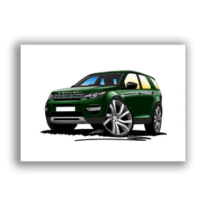 Land Rover Discovery Sport - Caricature Car Art Print