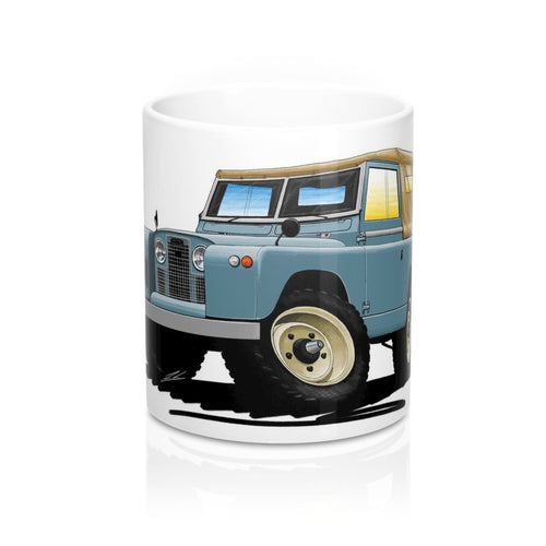 Land Rover Series 2 - Caricature Car Art Coffee Mug
