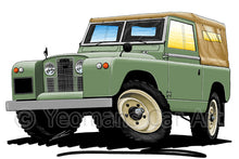 Load image into Gallery viewer, Land Rover Series 2 - Caricature Car Art Print