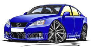 Lexus IS-F (XE20) - Caricature Car Art Print