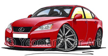 Load image into Gallery viewer, Lexus IS-F (XE20) - Caricature Car Art Print