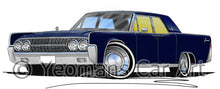 Load image into Gallery viewer, Lincoln Continental (1963) - Caricature Car Art Print