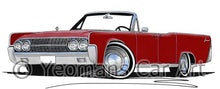 Load image into Gallery viewer, Lincoln Continental Convertible (1963) - Caricature Car Art Coffee Mug