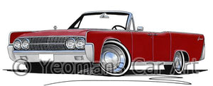 Lincoln Continental Convertible (1963) - Caricature Car Art Coffee Mug