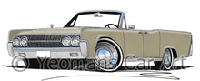 Load image into Gallery viewer, Lincoln Continental Convertible (1963) - Caricature Car Art Print