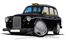 Load image into Gallery viewer, London Fairway Taxi - Caricature Car Art Print