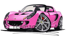 Load image into Gallery viewer, Lotus Elise S2 - Caricature Car Art Print