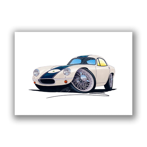Lotus Elite (Racer) - Caricature Car Art Print