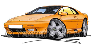 Lotus Esprit S4 - Caricature Car Art Coffee Mug