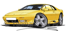 Load image into Gallery viewer, Lotus Esprit S4 - Caricature Car Art Print
