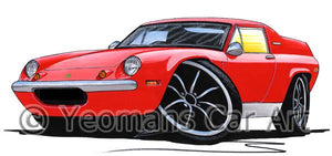 Lotus Europa S2 TC Twin Cam - Caricature Car Art Coffee Mug