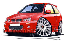 Load image into Gallery viewer, MG ZR - Caricature Car Art Print