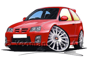MG ZR (Facelift) - Caricature Car Art Print