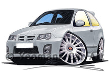 Load image into Gallery viewer, MG ZR (Facelift) - Caricature Car Art Print