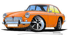 Load image into Gallery viewer, MG B GT - Caricature Car Art Print
