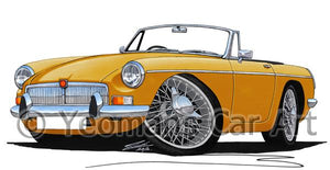 MG B Roadster - Caricature Car Art Coffee Mug