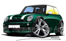 Load image into Gallery viewer, MINI (Mk1)(R53) Cooper S Works - Caricature Car Art Print