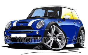 MINI (Mk1)(R53) Cooper S Works - Caricature Car Art Print