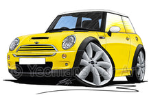 Load image into Gallery viewer, MINI (Mk1)(R53) Cooper S - Caricature Car Art Print