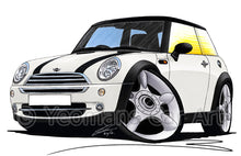 Load image into Gallery viewer, MINI (Mk1)(R50) Cooper - Caricature Car Art Print