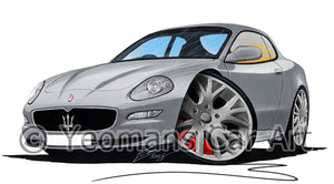 Maserati GranSport - Caricature Car Art Print