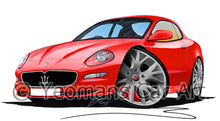 Load image into Gallery viewer, Maserati GranSport - Caricature Car Art Print