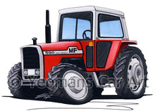 Load image into Gallery viewer, Massey Ferguson 590 Tractor - Caricature Car Art Print