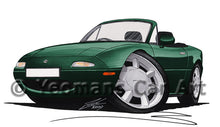 Load image into Gallery viewer, Mazda MX5 (Mk1) - Caricature Car Art Print