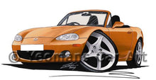 Load image into Gallery viewer, Mazda MX5 (Mk2) - Caricature Car Art Coffee Mug