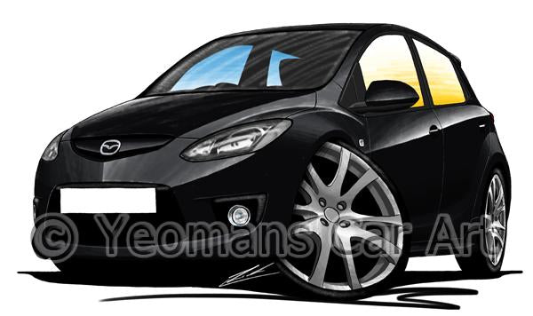 Mazda 2 (Mk3) - Caricature Car Art Coffee Mug