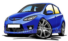 Load image into Gallery viewer, Mazda 2 (Mk3) - Caricature Car Art Coffee Mug