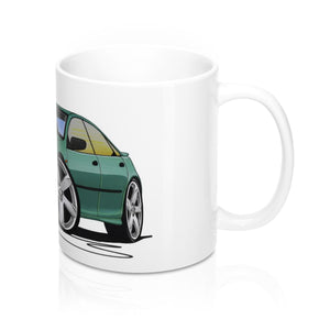 Mazda 323F - Caricature Car Art Coffee Mug