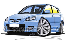 Load image into Gallery viewer, Mazda 3 (Mk1) MPS - Caricature Car Art Print