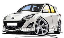 Load image into Gallery viewer, Mazda 3 (Mk2) MPS - Caricature Car Art Print