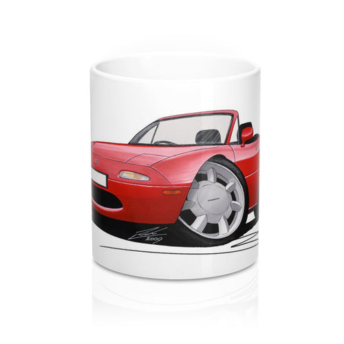 Mazda MX5 (Mk1) - Caricature Car Art Coffee Mug
