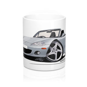 Mazda MX5 (Mk2) - Caricature Car Art Coffee Mug