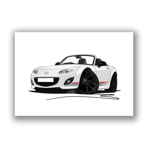 Mazda MX5 (Mk3) (Facelift) Kuro Edition - Caricature Car Art Print